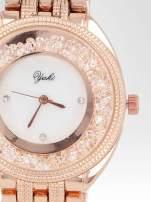Zegarek damski na bransolecie z różowego złota