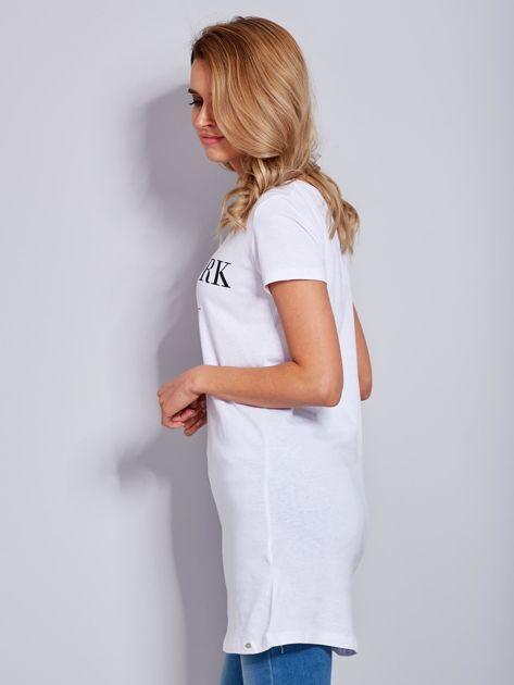 Tunika biała bawełniana z nazwami miast                              zdj.                              5