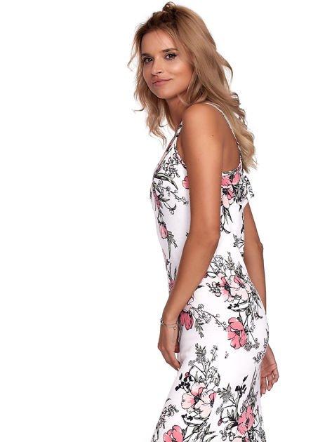 Biała kwiatowa sukienka maxi                              zdj.                              6