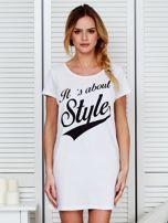Koszula nocna bawełniana IT'S ABOUT STYLE biała                                  zdj.                                  1