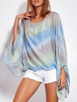 SCANDEZZA Niebiesko-szara zwiewna bluzka ombre                                  zdj.                                  8