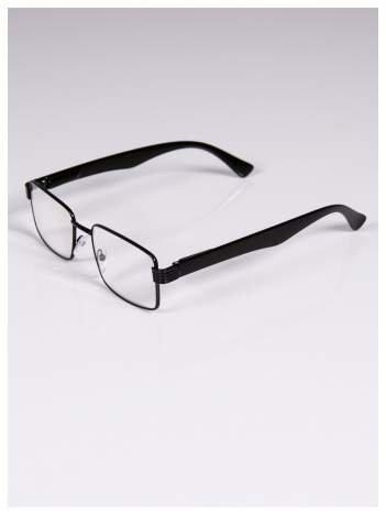 +2.0 D Delikatne czarne okulary korekcyjne do czytania z sytemem FLEX na zausznikach