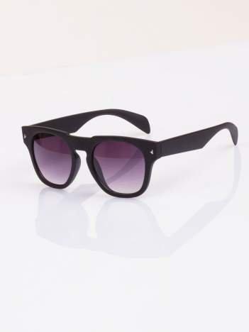 2016 Okulary hipster w stylu VINTAGE RETRO czarne matowe