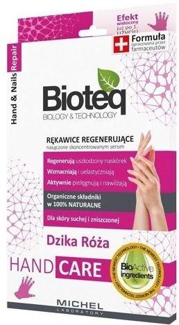 BIOTEQ Rękawice Regenerujące Nasączone Skoncentrowanym Serum 21 g