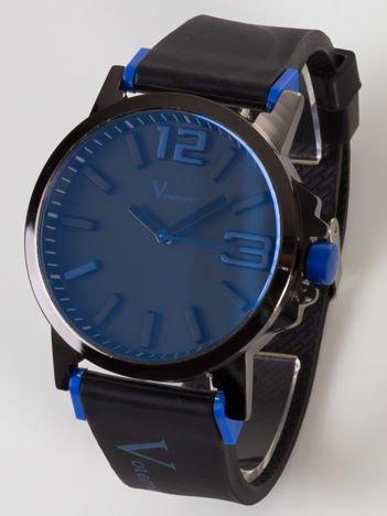 Votemarch-Nowoczesny i duży męski zegarek z czarną tarczą