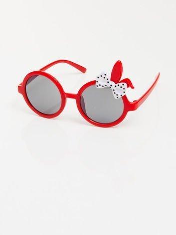 ZAJĄCZEK Z KOKARDĄ Dziecięce czerwone okulary  z filtrami,odporne na wyginania