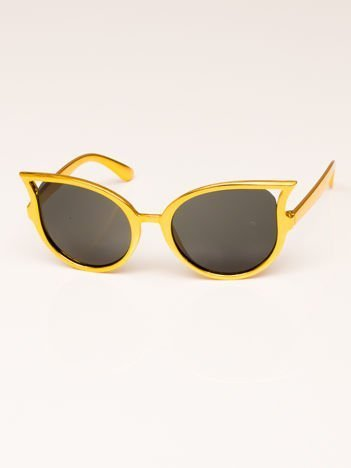 Złote Dziecięce Okulary Przeciwsłoneczne z Filtrami UV