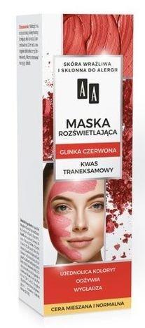 AA CARBON&CLAY Maska rozświetlająca z glinką czerwoną 30 ml