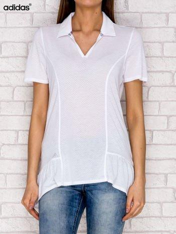 ADIDAS Biały t-shirt w drobny wzór