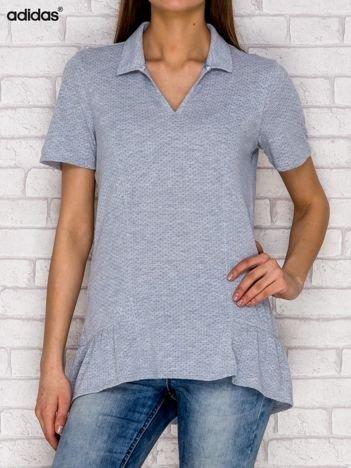 ADIDAS Szary t-shirt w drobny wzór