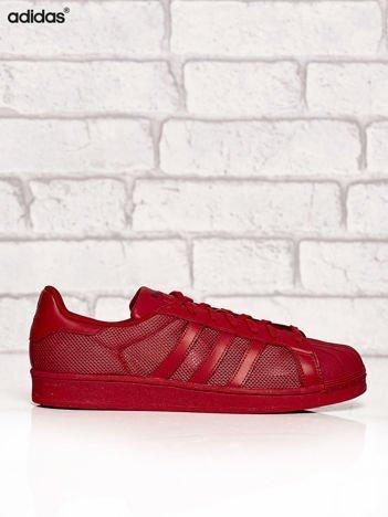 ADIDAS czerwone buty męskie o dziurkowej fakturze