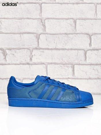 ADIDAS niebieskie buty męskie z dziurkowaną fakturą