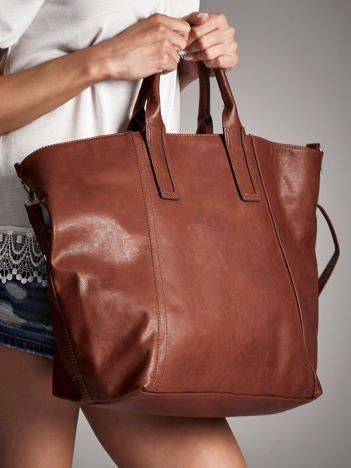 ANNA FIELD Brązowa torba shopper bag