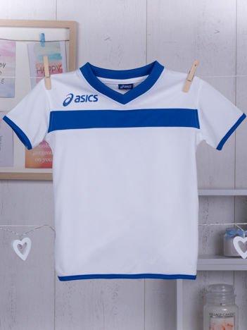 ASICS Biały sportowy t-shirt chłopięcy
