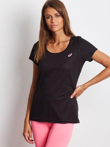 ASICS Czarny sportowy t-shirt z małym logo