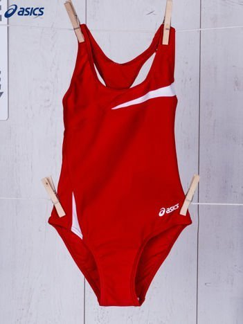 ASICS Czerwony kostium kąpielowy dla dziewczynki