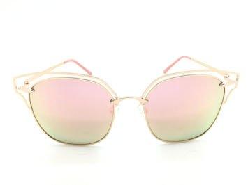 ASPEZO Okulary przeciwsłoneczne POLARYZACYJNE damskie różowe SEUL. Etui skórzane, etui miękkie oraz ściereczka z mikrofibry w zestawie