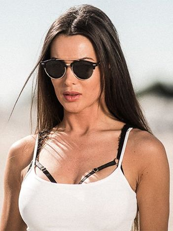 ASPEZO Okulary przeciwsłoneczne damskie POLARYZACYJNE czarne DUBAI Etui skórzane, etui miękkie oraz ściereczka z mikrofibry w zestawie