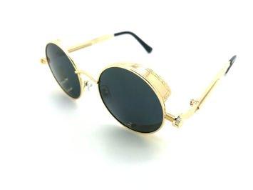 ASPEZO Okulary przeciwsłoneczne damskie POLARYZACYJNE złoto-czarne AMSTERDAM Etui skórzane, etui miękkie oraz ściereczka z mikrofibry w zestawie
