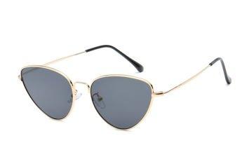ASPEZO Okulary przeciwsłoneczne damskie złoto-czarne SEVILLA Etui skórzane, etui miękkie oraz ściereczka z mikrofibry w zestawie