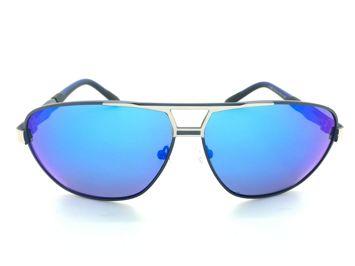 ASPEZO Okulary przeciwsłoneczne unisex POLARYZACYJNE niebieskie FLORIDA Etui skórzane, etui miękkie oraz ściereczka z mikrofibry w zestawie