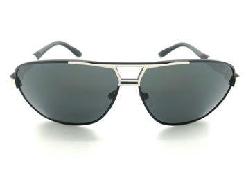 ASPEZO Okulary przeciwsłoneczne unisex POLARYZACYJNE szare FLORIDA Etui skórzane, etui miękkie oraz ściereczka z mikrofibry w zestawie