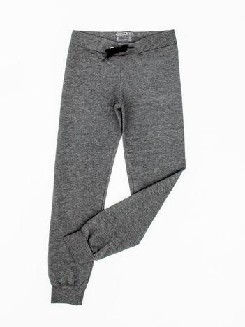 Antracytowe dresowe spodnie dziecięce z troczkami