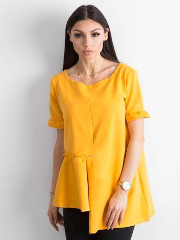 Asymetryczna bluzka żółta