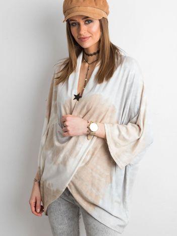Asymetryczny sweter beżowy