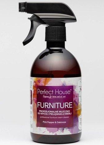BARWA Perfect House Furniture Profesjonalne Mleczko do mycia i pielęgnacji mebli 450 ml