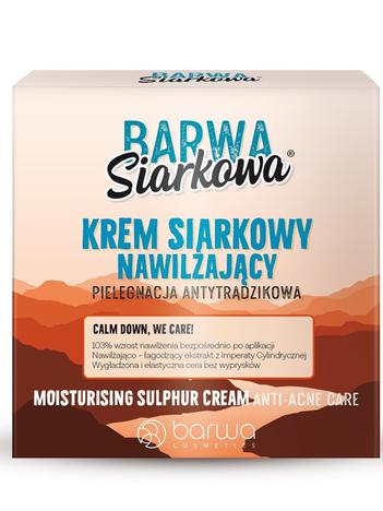"""BARWA Siarkowa Krem siarkowy długotrwale nawilżający - cera tłusta  50ml"""""""