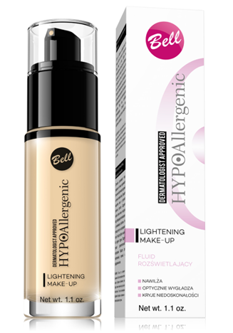 BELL HYPOAllergenic Podkład rozświetlający Lightening Make-Up 04 golden beige