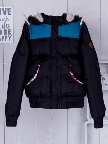 BELLFIELD Czarna zimowa kurtka dla dziewczynki