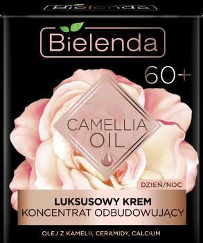BIELENDA CAMELLIA OIL Luksusowy krem-koncentrat odbudowujący 60+ na dzień i na noc 50 ml