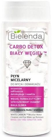 BIELENDA Carbo Detox Biały Węgiel Płyn micelarny do mycia i demakijażu 200 ml