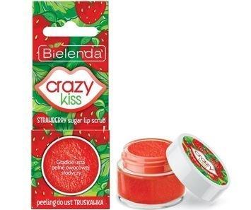 BIELENDA Crazy Kiss peeling do ust TRUSKAWKA 15 g