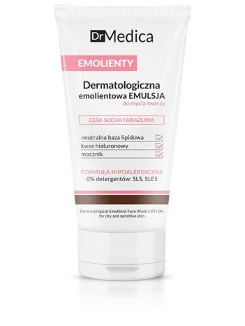 BIELENDA Dr Medica EMOLIENTY Dermatologiczna emolientowa emulsja do mycia twarzy, cera sucha i wrażliwa 150 ml