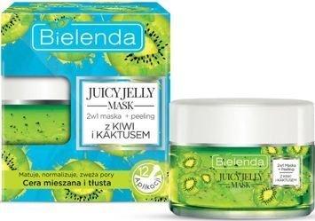 BIELENDA Juicy Jelly 2w1 Oczyszczająca maska + peeling kiwi & kaktus 50 g