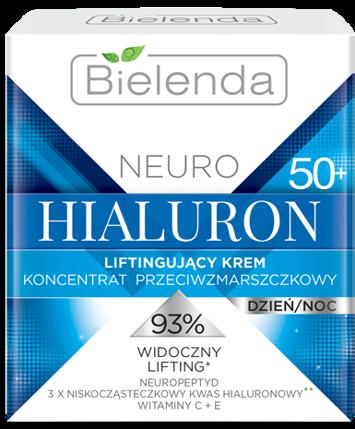 BIELENDA NEURO HIALURON Liftingujący krem – koncentrat przeciwzmarszczkowy 50+ dzień/noc 50 ml