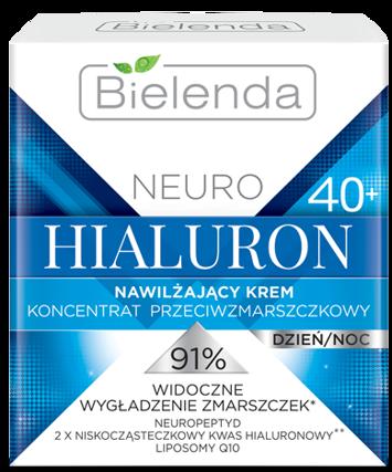 BIELENDA NEURO HIALURON Nawilżający krem – koncentrat przeciwzmarszczkowy 40+ dzień/noc 50 ml