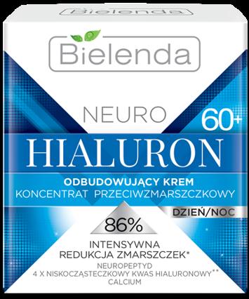 BIELENDA NEURO HIALURON Odbudowujący krem – koncentrat przeciwzmarszczkowy 60+ dzień/noc 50 ml