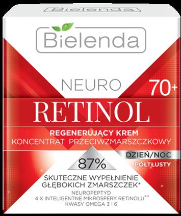 BIELENDA NEURO RETINOL Regenerujący krem – koncentrat przeciwzmarszczkowy 70+ PÓŁTŁUSTY dzień/noc 50 ml