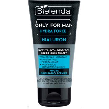 BIELENDA ONLY FOR MEN Nawilżająco-łagodzący żel do mycia do twarzy HYDRA FORCE 150 ml