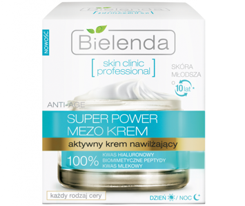 BIELENDA SKIN CLINIC PROFESSIONAL Aktywny krem nawilżający ANTI-AGE dzień/ noc 50 ml