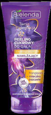 BIELENDA Twoja Pielęgnacja Peeling cukrowy do ciała NAWILŻAJĄCY Frangipani i Mleczko pszczele 200 ml
