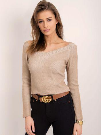 BSL Beżowy sweter damski