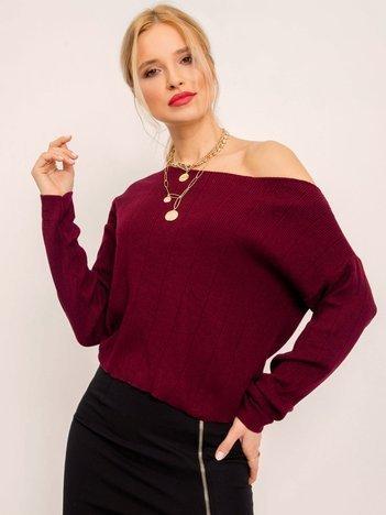 BSL Bordowy sweter damski