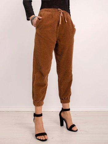 BSL Brązowe spodnie ze sztruksu