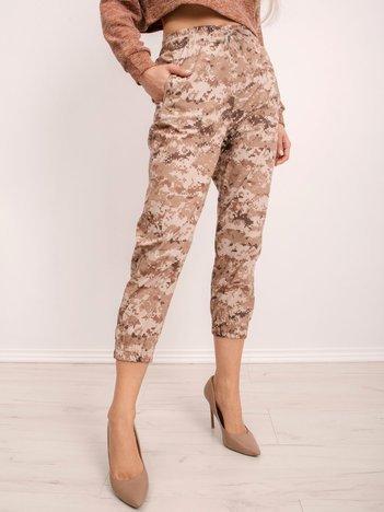 BSL Brązowe wzorzyste spodnie