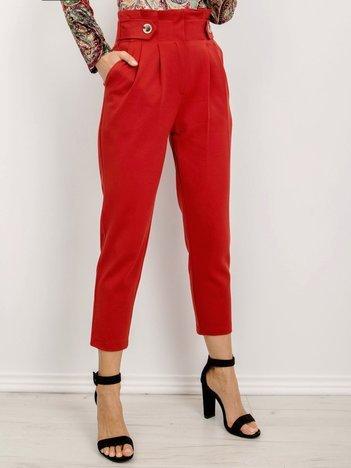 BSL Ceglaste spodnie damskie